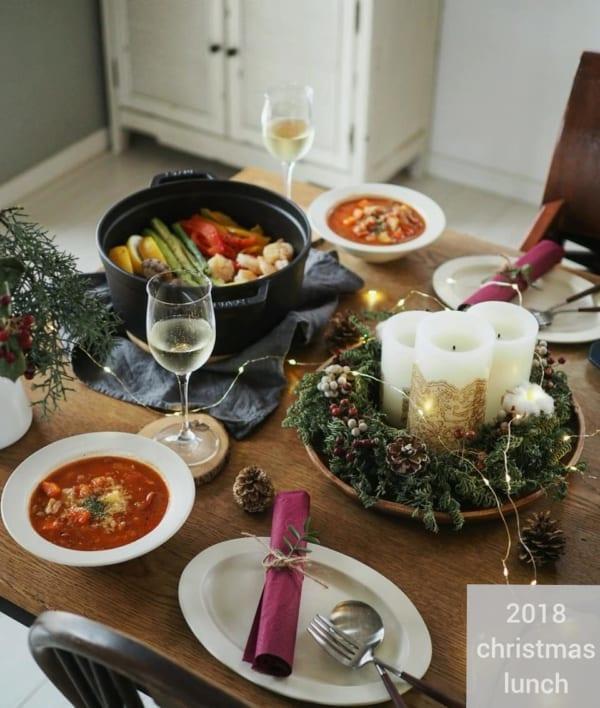 クリスマスのおしゃれなテーブルコーディネート3