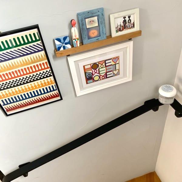 アート おしゃれ 階段・廊下インテリア