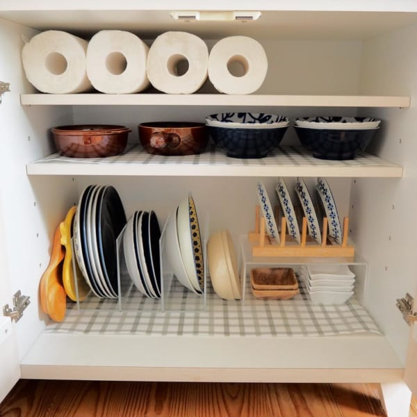 収納実例①お皿の収納