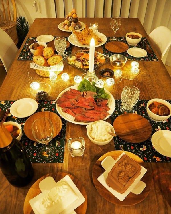 クリスマスのおしゃれなテーブルコーディネート5