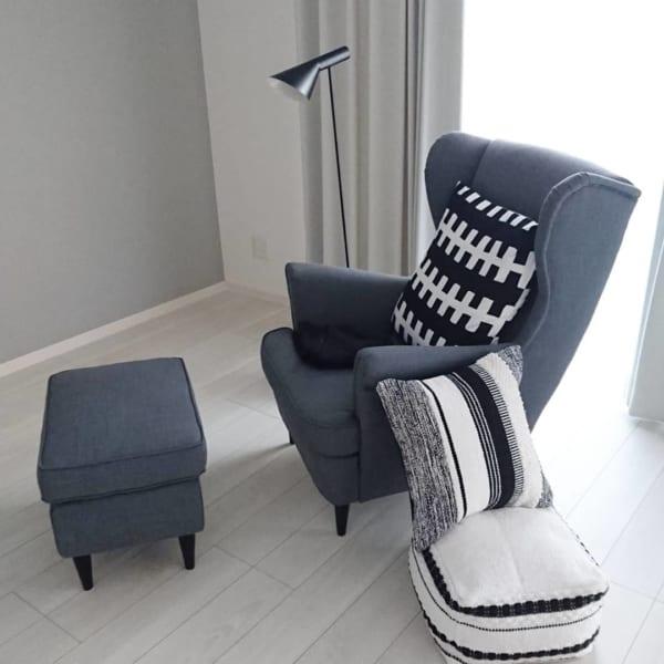 贅沢なソファでリゾート気分なコーディネート