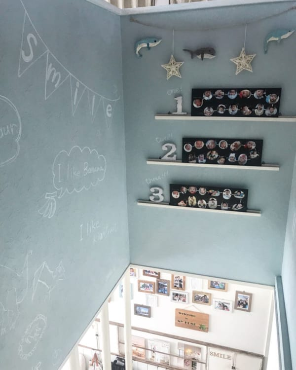 アート おしゃれ 階段・廊下インテリア5