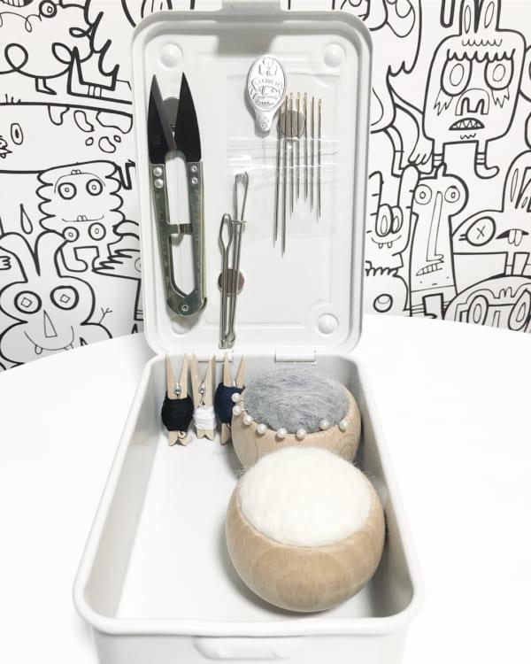 工具箱2:ミニマルセットのスマート裁縫箱に