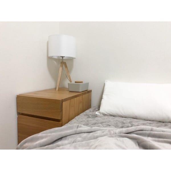 無印良品キャビネットとベッド