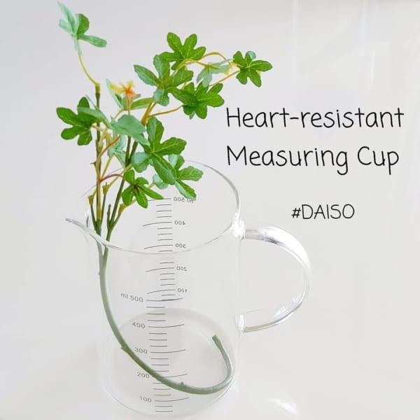 耐熱性で便利な計量カップ