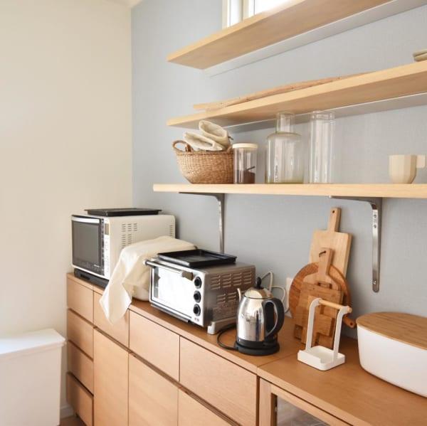 無印収納家具を横並びにした素敵な台所