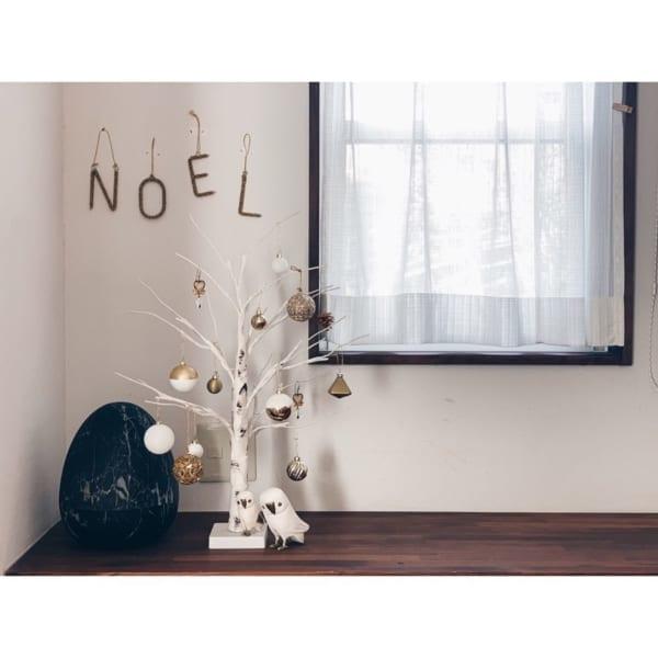 ニトリのLEDツリーでクリスマスアレンジ3