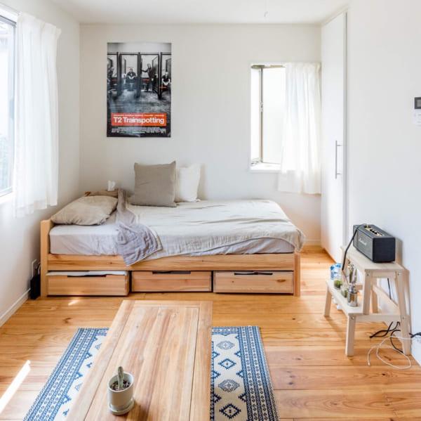 その2.横長のお部屋で5畳のレイアウトアイデア