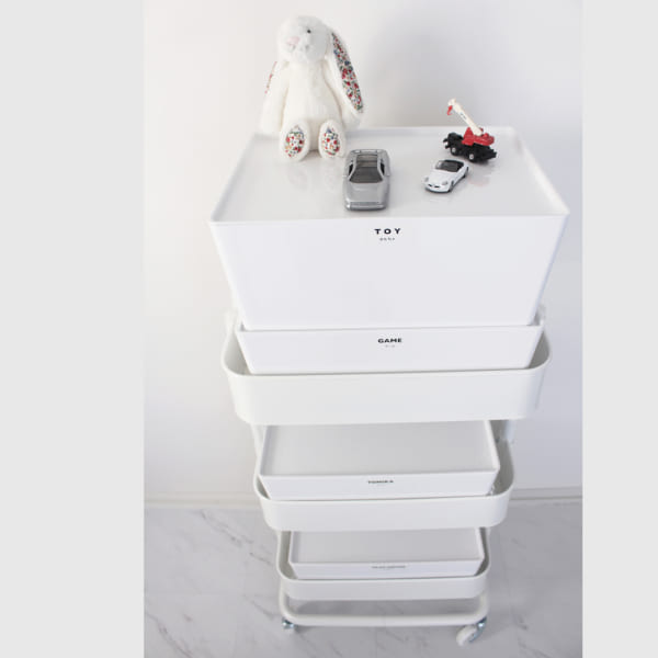IKEAアイテムのコラボでスマートワゴン収納