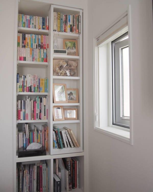 おしゃれな本棚アイディア《ベッドルーム》