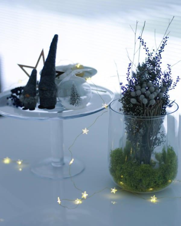 ガラスアイテムでクリスマスデコレーション1