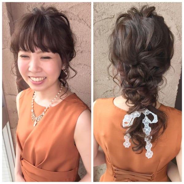 健康的な色気の前髪ありロングアレンジ