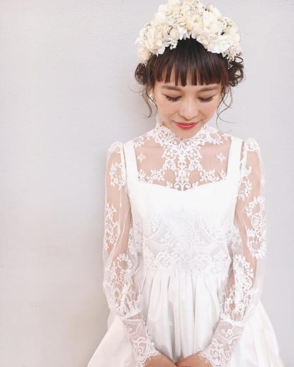 花嫁の髪型 ボブ 特集 ウェディングドレスに似合うヘアスタイルを大