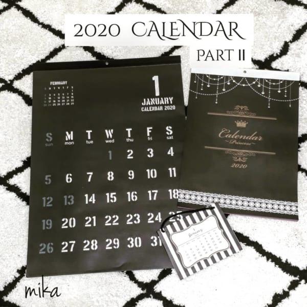 セリア カレンダー 2020 3