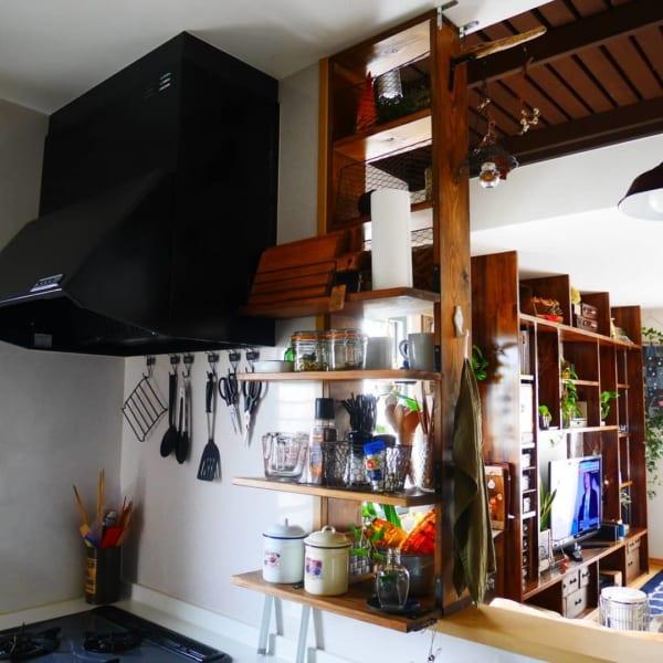 実例④調味料棚DIY