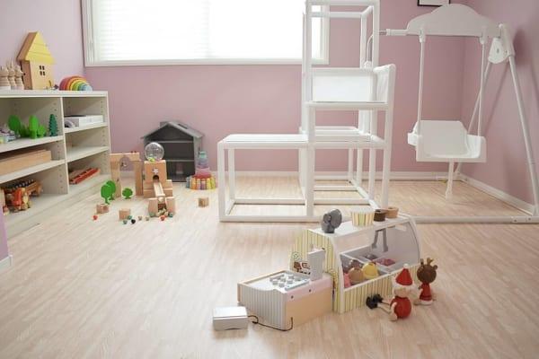 ピンクがふんわり優しい子供部屋