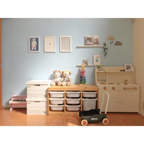 ブルーでさっぱりフレッシュな子供部屋