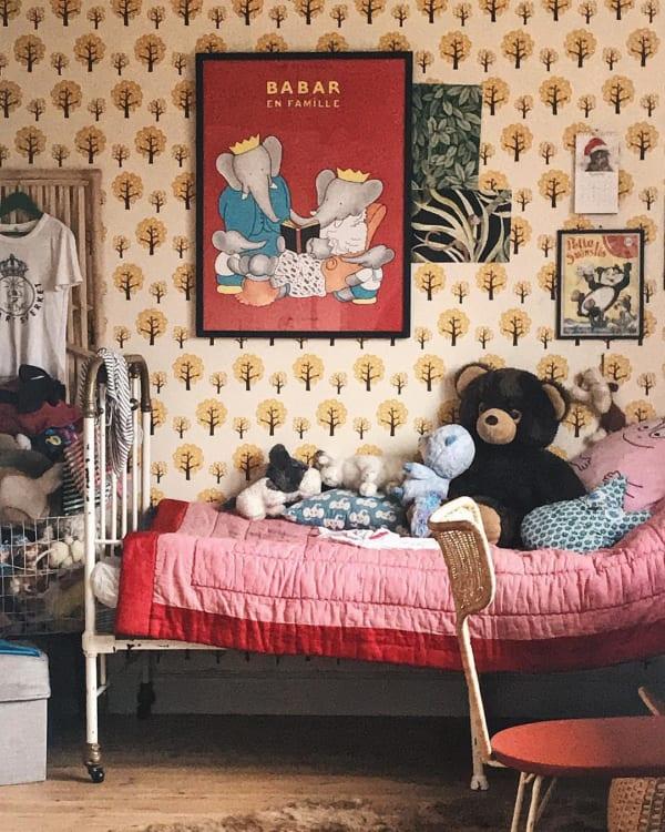 どこか懐かしいレトロな子供部屋