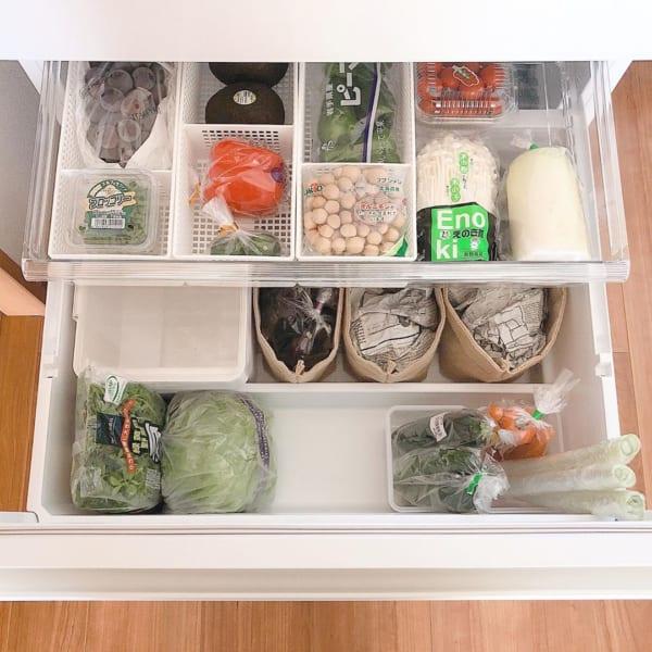 冷蔵庫 野菜室 整理整頓7