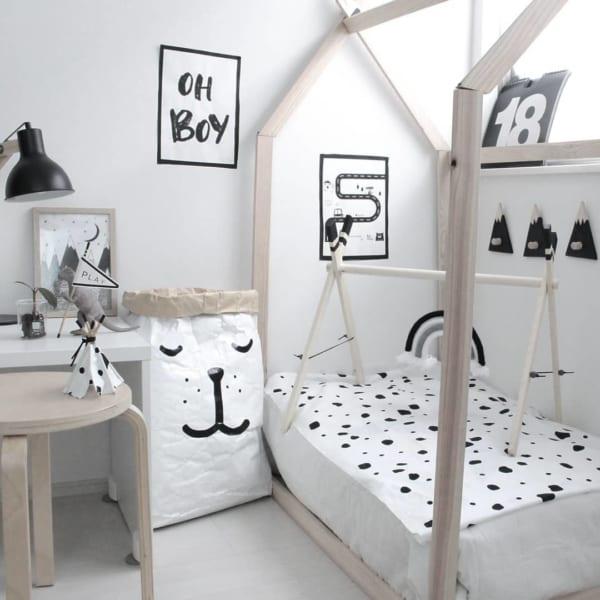 狭い子供部屋の可愛いレイアウト