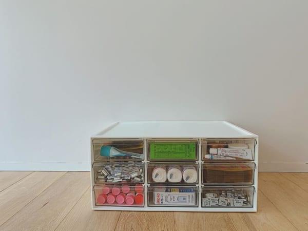 薬収納アイデア⑦見やすさ重視収納