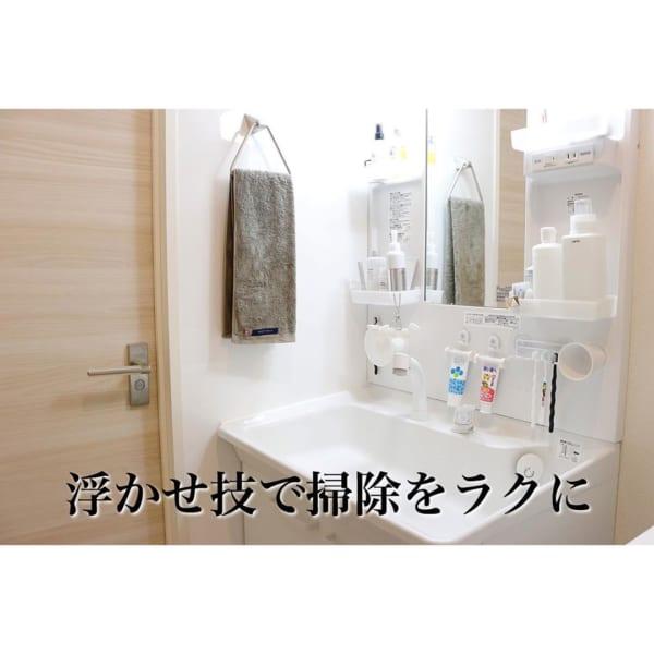 アイデア⑨吸盤を使って洗面所収納