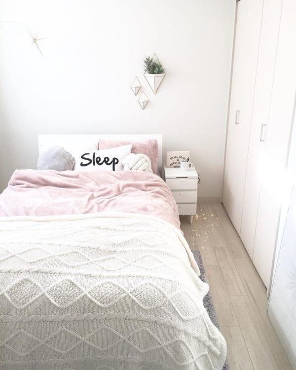 4畳半寝室のキュートなレイアウト