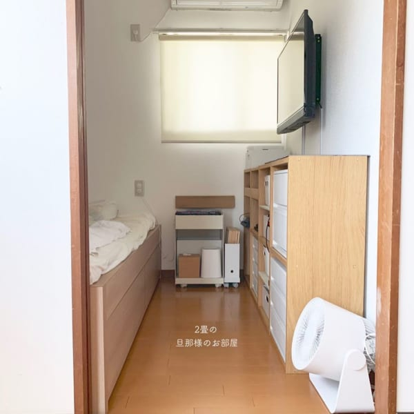 4畳半寝室のスマートなレイアウト