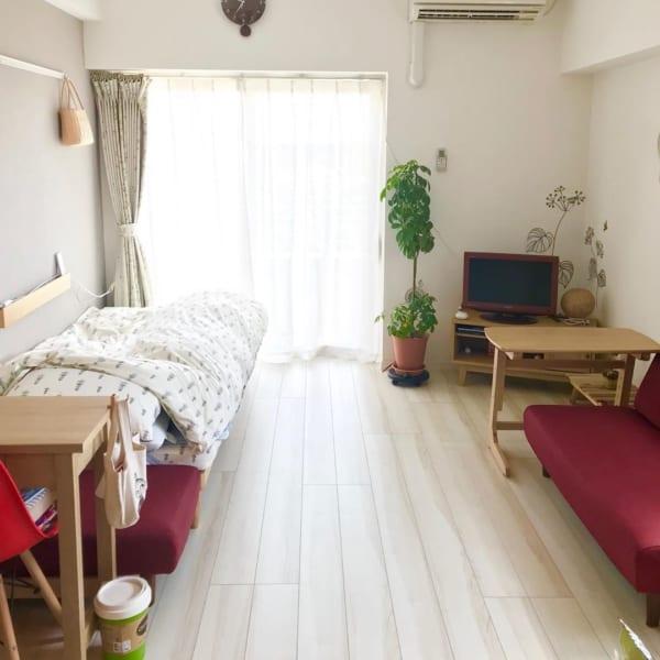 長方形 7畳部屋 レイアウト 家具の配置3