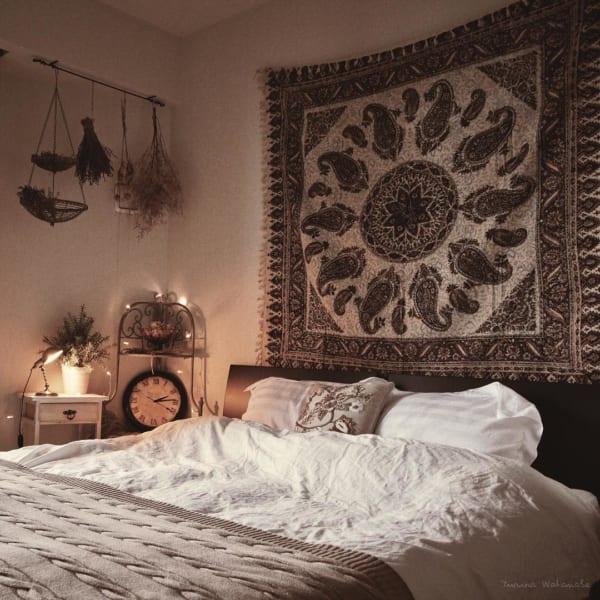エスニック風 インテリア 寝室