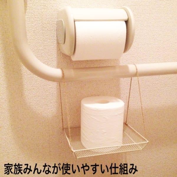 トイレットペーパーの付け替え