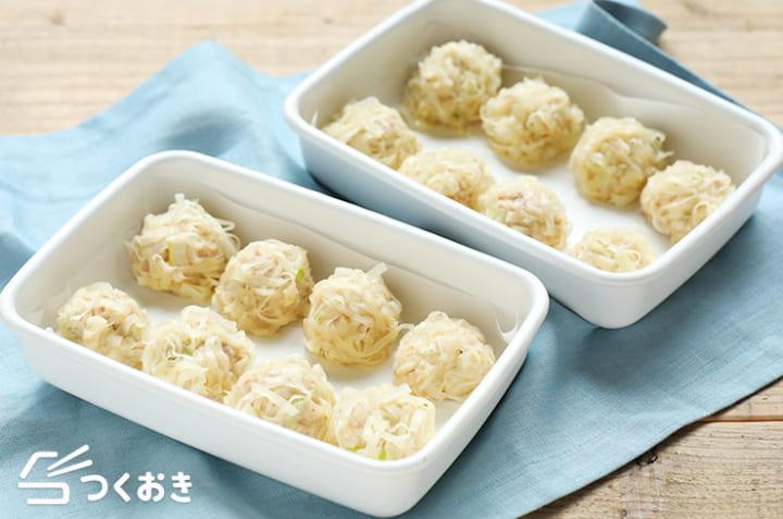 人気の作り置きレシピに!豆腐しゅうまい