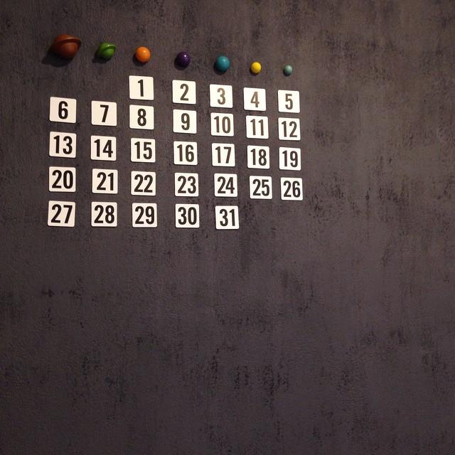 磁石を利用した手作りカレンダー