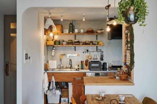 古材を使ったキッチン