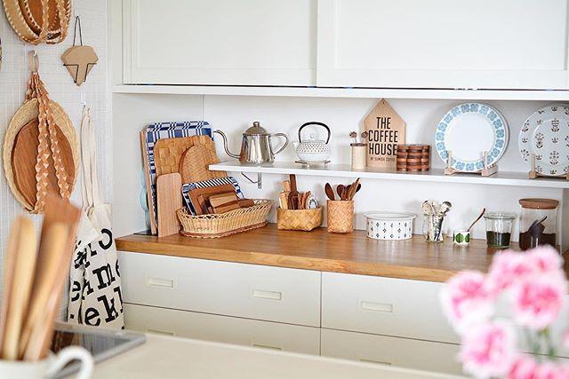 キッチンの壁面収納で北欧スタイル2