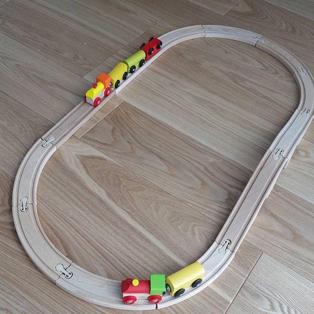 知育玩具①木製レールセット