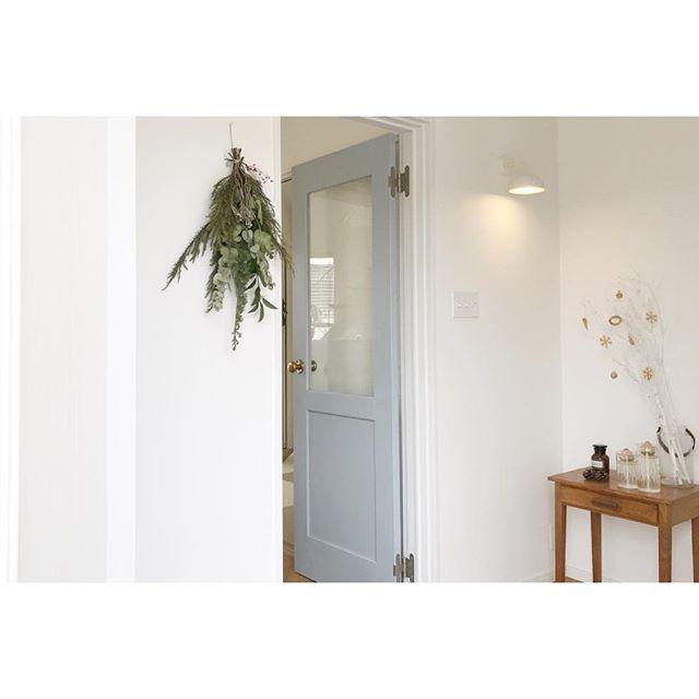 北欧風の玄関インテリア14