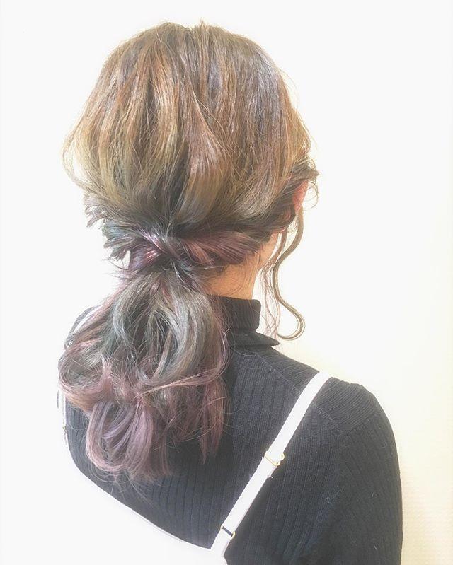 お花見におすすめの髪型《ロングヘアアレンジ》5