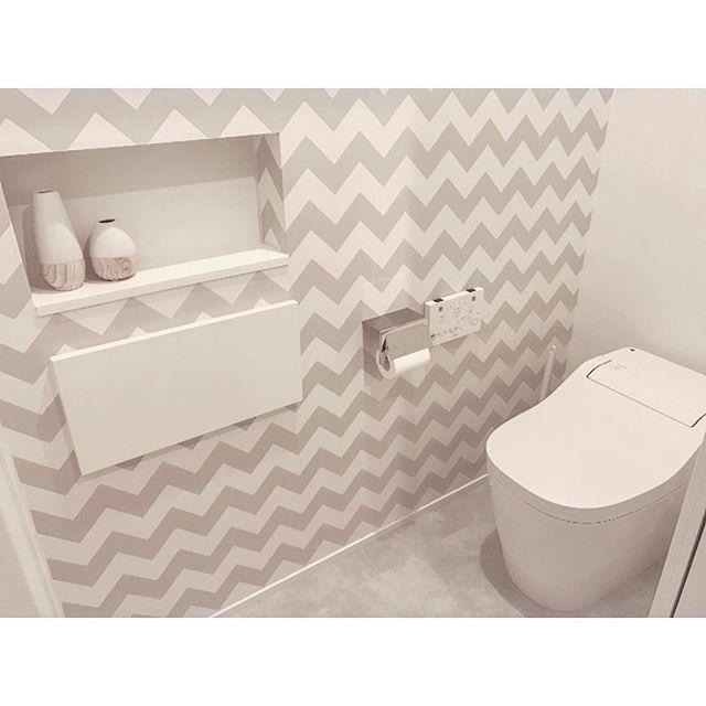 北欧テイストなトイレの壁紙3