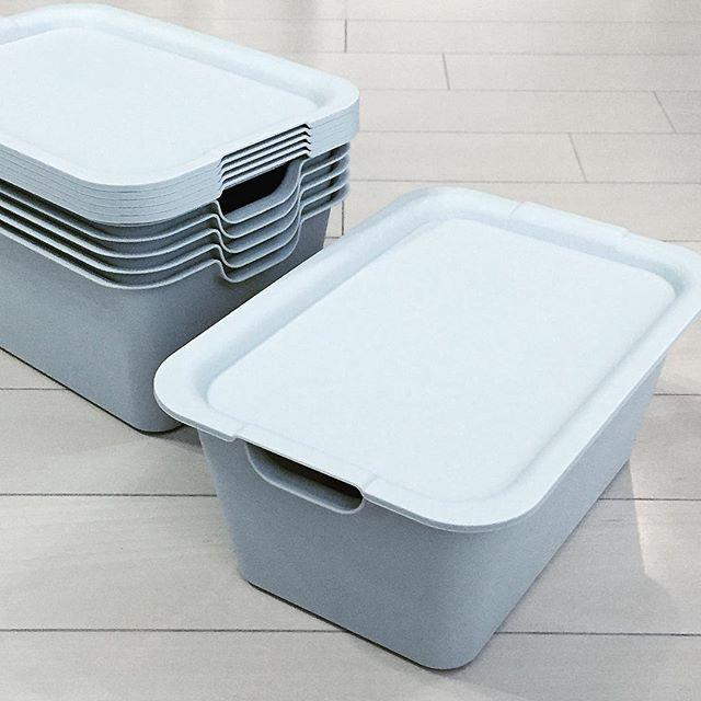 蓋付き収納ボックスできれいに収納