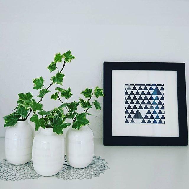 北欧ブランドの白い花器