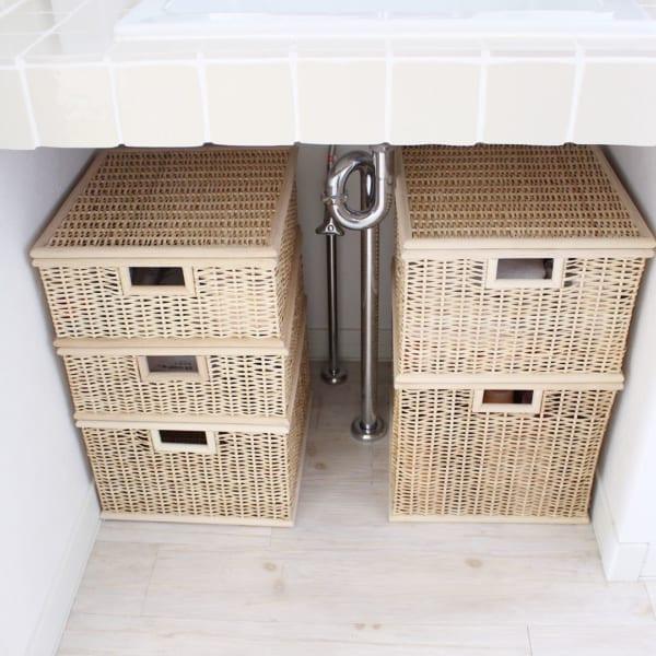 洗面台の下スペースを有効活用
