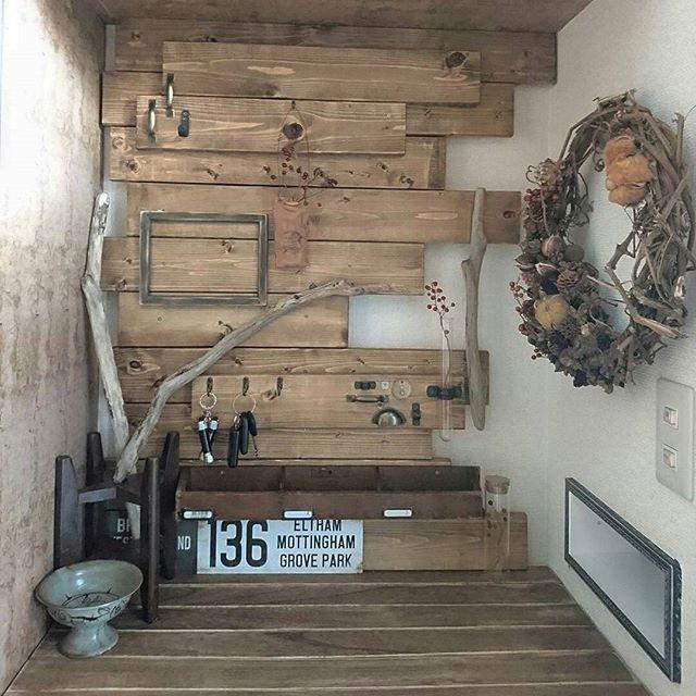 壁面 玄関