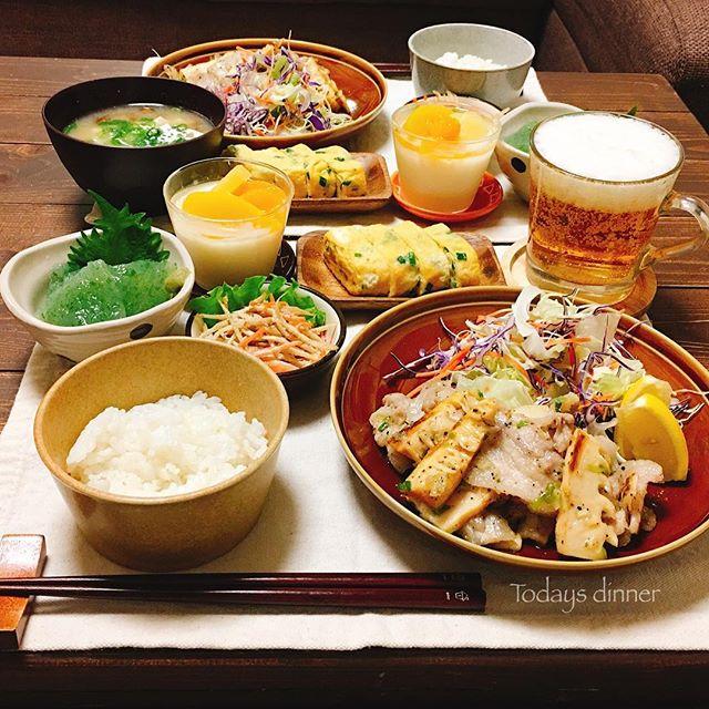 天ぷらに!豚バラと筍の付け合わせネギ塩炒め
