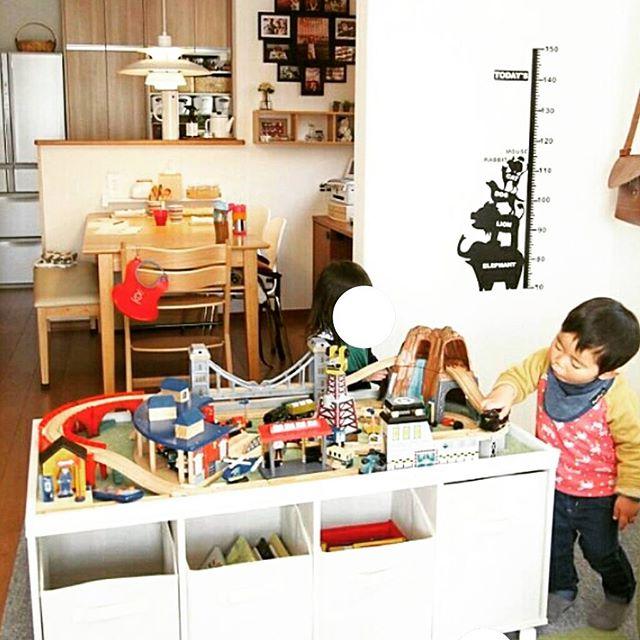 爽やかで使いやすい手作り棚を居間にプラス