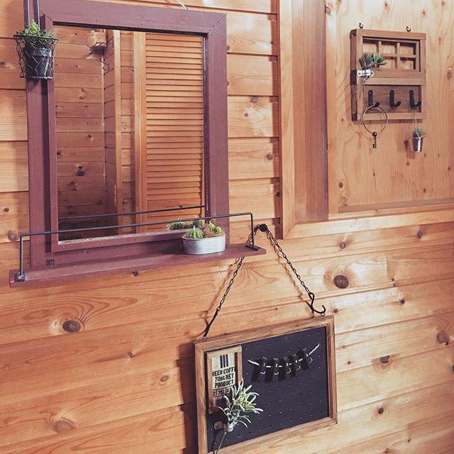100均を活用した玄関横の飾り方