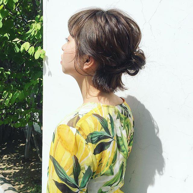 お花見におすすめの髪型《ボブヘアアレンジ》4