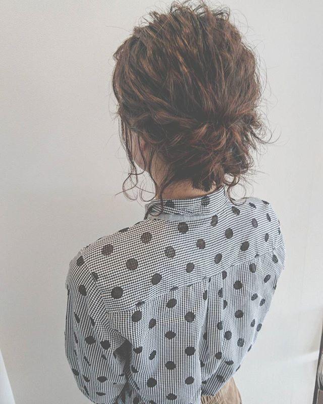 ママ向け!入学式の髪型《ミディアム×波ウェーブ》5