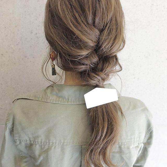 お花見におすすめの髪型《ロングヘアアレンジ》3