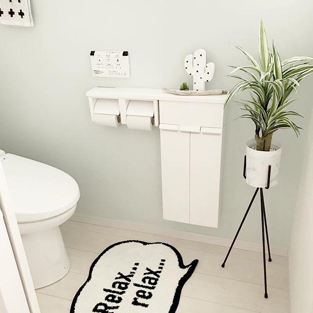 さわやかで清潔感あるトイレの壁紙